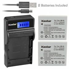 NB-4L Battery&Slim LCD Charger for Canon PowerShot SD1000, SD1100 IS, SD1400 IS