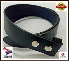 Men,s Genuine 100% Real Leather Belt Snap On Strap Without Buckle Top Quality
