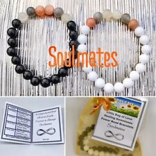 Pair of Soulmates Power Bead Bracelets Healing Crystal Gemstones Size Choices