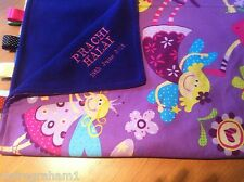 XL PERSONALISED FAIRY COT/PRAM TAGGY BLANKET/GIFT/GIRL