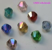 Mix 3 4 6MM AB choose Fashion spacer beads bicone glass crystal beads jewelry
