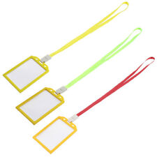 Factory Worker Office Name ID Card Tag Badge Holder Container 10 Pcs w Lanyard