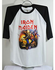 Iron Maiden Baseball T shirt Metal rock band Men's jersey tee size S-M-L