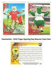 2010 Topps Opening Day Mascots Baseball Set ** Pick Your Team **