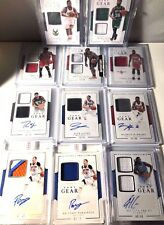 2016-17 Panini National Treasures Game Gear/Dual JSY Game Gear Auto PICK CARD