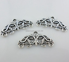 Tibetan Silver Earring Connectors Bails Charms Pendants Jewelry Making 14x29mm