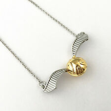 Harry Potter Quidditch Golden Snitch Pendant Necklace New Style 20th Anniversary