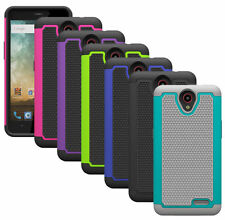 For ZTE Prestige N9132 Case Impact Resistant Hybrid Dual Layer Armor Phone Cover