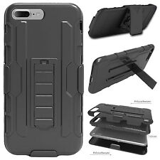 For iPhone 7/7 Plus NEW Shockproof Hybrid Belt Clip Holster Kickstand Case Cover