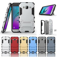 Hybrid Armor Combo Plastic+TPU Kickstand Shockproof Case for Samsung Galaxy J3