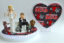 Wedding Cake Topper the Walking Dead Themed Zombies Ball and Chain Bride Groom