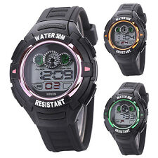 Unisex Sport Week Date Alarm Backlight Digital Silicone Band Wrist Watch Healthy