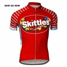 SKITTLES CANDY Team Cycling Jersey Retro Road Pro Clothing MTB Short Sleeve Bike