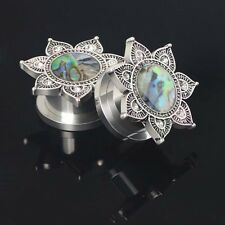 2PCS Ear-Expander Punk Flared Ear Plugs Expander Stretcher Tunnels Piercing New