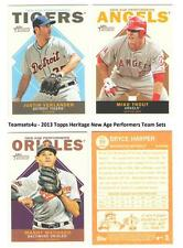 2013 Topps Heritage New Age Performers Baseball Set ** Pick Your Team **