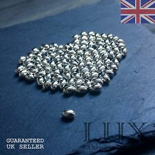100 x Silver OR Gold Gilt Plated Oval Spacer Beads Balls Jewellery Making