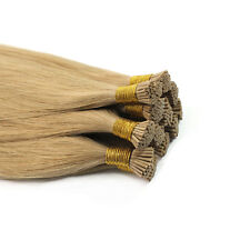 16''-30'' I Tip Stick Hair Extensions Remy Human Hair Straight Golden Brown 50S