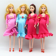 Pregnant Doll Suits Mom Doll Tummy Best Friend Play with Girls Educational DR