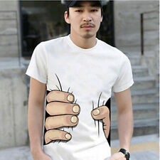 Men&Womens Big Hand Printed Funny Catch You Cotton Short Sleeve T-shirt  czz126