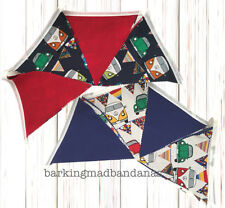 Cotton Bunting VW Campervan Party Bunting Marquee Bunting fabric VDub UK Cars
