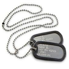 Military Dog Tags Personalized Stainless Steel (MATTE/SHINY) WHOLESALE / LOT