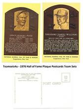 1976 Hall of Fame (HOF) Plaque Postcards Baseball Set ** Pick Your Team **