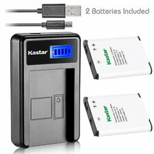 EN-EL19 Battery&LCD USB Charger for Nikon Coolpix S3700 S4100 S4150 S4200 S4300