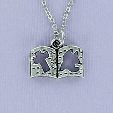 Bible Necklace - Pewter 3D Charm on Cable Chain Cross Dove Faith Religion NEW