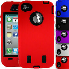 Armour Shock Proof Builder Hard Workman Outdoor Case Cover for Apple iPhone 4/4S