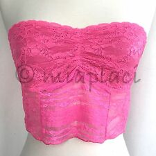 NWT Free People Lace Crop Bra Hot Pink