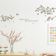 Tree Branch Bird Letters Wall Decal Mural Sticker Art Home Decor PVC Removable