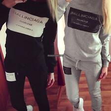 Women Fashion Casual Letter Print Pullover Sweats Sweatshirt and Pants DKVP