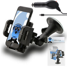 Rotating Car Holder & Micro USB Charger for Samsung S6102 Galaxy Y Duos