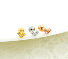 CZ Tiny Heart Tragus Earring cute fashion earring simple conch tragus studs