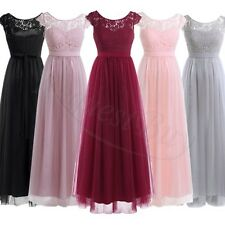 Long Lace Formal Evening Prom Party Dress Bridesmaid Dresses Ball Gown Cocktail