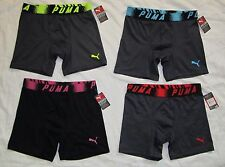 "NWT Mens PUMA 6"" Microfiber Sport Stretch 4 Boxer Brief Underwear -size S -qty 4"
