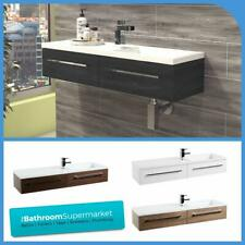 Minimalist Vanity Unit Wall Mounted Bathroom Wall Hung Cabinet Wash Basin