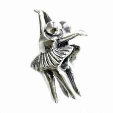 Sterling Silver Girl Ballet Dancer Ballerina Bead for European Charm Bracelets