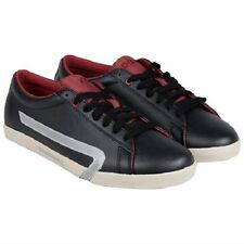 Diesel bikkren black biking red mens shoes leather sneakers size 8.5