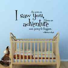 I Knew An Adventure Was Going To Happen Winnie The Pooh Vinyl Wall Decal Sticker