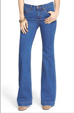 Free People Stretch Midrise Flare Jeans size 25 26 27 28 29 Dallas Blue
