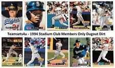 1994 Topps Stadium Club Members Only Dugout Dirt Baseball ** Pick Your Team **