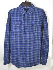NWT BOYS YOUTH TRUE RELIGION WOVEN PLAID LONG SLEEVE BUTTON UP DOWN SHIRT SZ M
