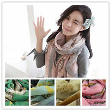 New Women Print clock Scarf sun block Long Shawl Wrap Stole Soft Scarves 24