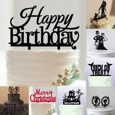 Cake Topper Happy Birthday/Wedding/Halloween/Christmas Party Supplies Decoration