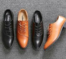 Gentlemanly Lace Up Leather Brogues Mens Dress Formal Pointed Toe Shoes New