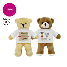 "PERSONALISED NAME GRADUATION HENRY 7"" TEDDY BEAR SOFT TOY GIFT FOR GRADUATES"