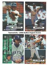 1998 SkyBox Dugout Access Baseball Set ** Pick Your Team **