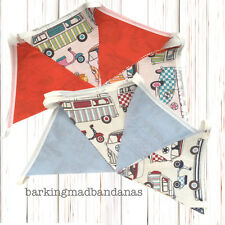 Cotton Bunting VW Campervan Bunting Marquee Bunting fabric VDub Gifts Cars VW