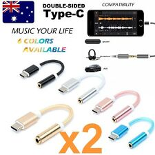 2-Pack Type C to 3.5mm Headphone Jack Adapter Stereo Audio Headphone Cable MotoZ